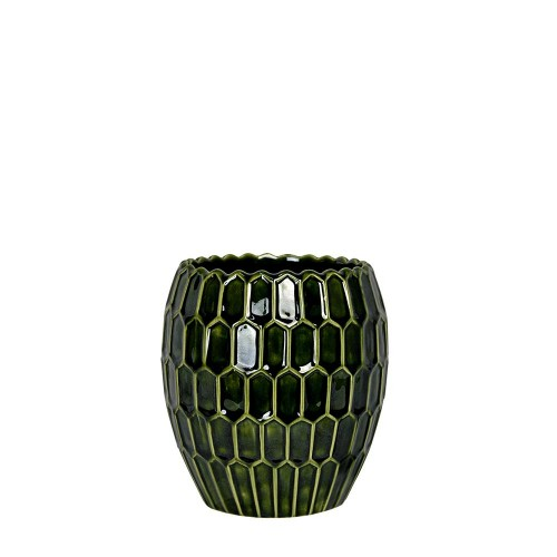 2112309 - VASO GRANDE DIAMOND VERDE COBRE