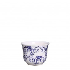 343377 - CACHEPOT LISO PEQUENO COLONIAL CHINESA AZUL
