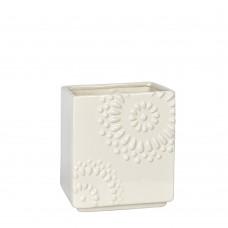 3562301 - VASO BAIXO FLOWERS OFF WHITE